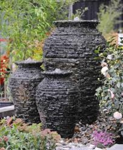 AquaScape Stacked Slate Urn